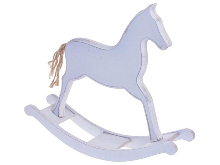 Koń Na Biegunach Biały Drewno Z Ogonem Ze Sznurka 225x55x205cm