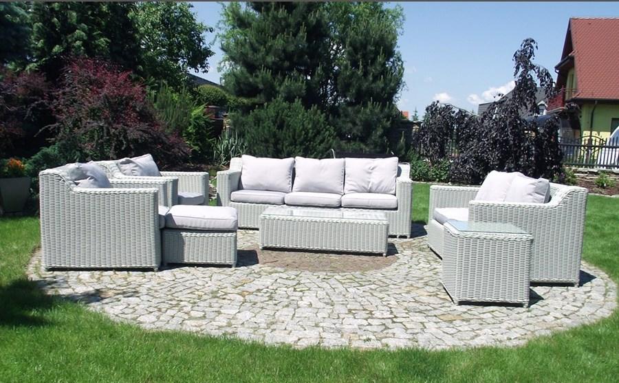 meble ogrodowe zestaw wypoczynkowy do ogrodu z technorattanu