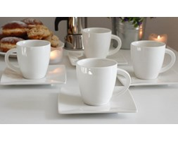 Serwis kawowy WHITE na 6 osób (12 el.)