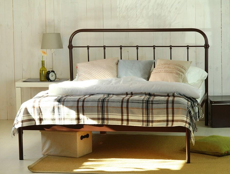 łóżko Metalowe Dwuosobowe Ivo Jeden Szczyt