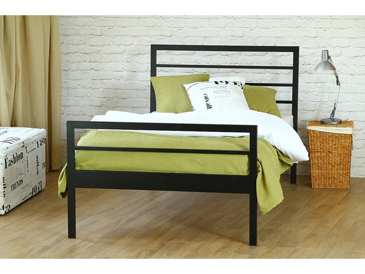 Nowoczesne Jednoosobowe łóżko Metalowe Simply Z Dwoma Szczytami