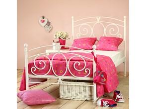 """Łóżko metalowe """"Sylvia"""" dla dziecka - dwa szczyty"""