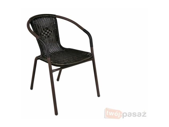 Krzesło Ogrodowe Ratanowe Metalowa Rama Krzesło Balkonowe