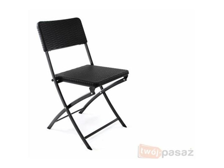 Składane Krzesło Ogrodowe Balkonowe Polirattanowe