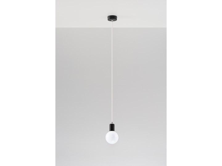 Sollux Nowość Nowoczesna Lampa Wisząca Edison Biała E27 Zwis