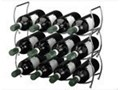 Materiał Metal Metalowy stojak na wino - 3 sztuki w komplecie Stojaki na butelki