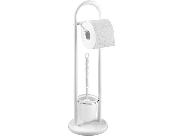 Styl klasyczny Stojak łazienkowy SIENA WHITE, 2 w 1, WENKO Zestawy akcesoriów do łazienki