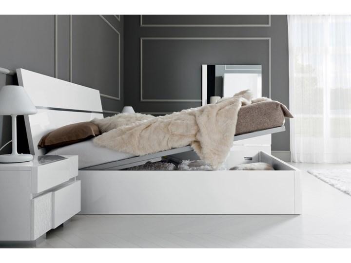 łóżko 160 Caprice Biały Lakier Z Pojemnikiem Na Pościel