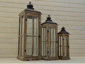 DREWNIANA LATARNIA LAMPION LAMPA SHABBY RETRO100CM