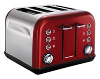 MORPHY RICHARDS Toster MORPHY RICHARDS Accents Red 242004 Czerwono-srebrny 242004