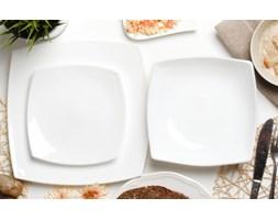Serwis obiadowy QUADRATO BLANC na 6 osób (18 el.) -- biały