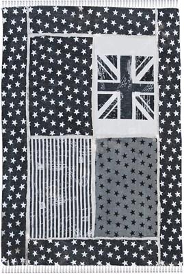 Chodnik bawełniany Vintage (szaro biały) 140x200cm - Flag 9098