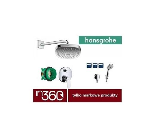 Hansgrohe Focus Bateria Zestaw Prysznicowy Podtynkowy Deszczownica