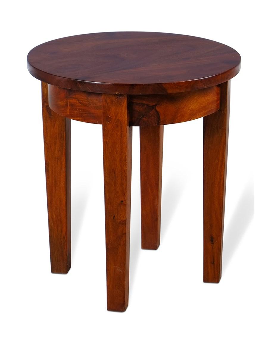 Znane Stolik drewniany okrągły średnica 35 cm - Stoliki i ławy - zdjęcia  NE-36