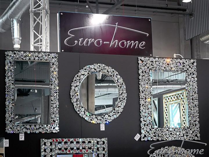 Lustro z kryształkami w stylu glamour  60 x 90 cm 13tm171PM Prostokątne Ścienne Lustro z ramą Pomieszczenie Przedpokój Kategoria Lustra