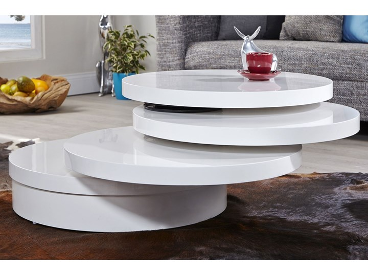 Coffee Table Roues White