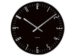 Karlsson :: Zegar ścienny Slim Index Black