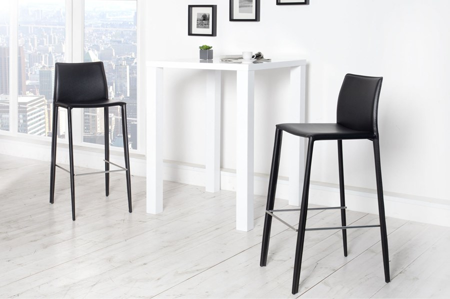 Krzesło barowe / hoker Verona - czarne - Hokery - zdjęcia ...