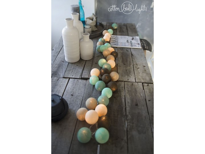 Cotton Ball Lights :: Świetlna girlanda Peppermint Chocolate 35 kul