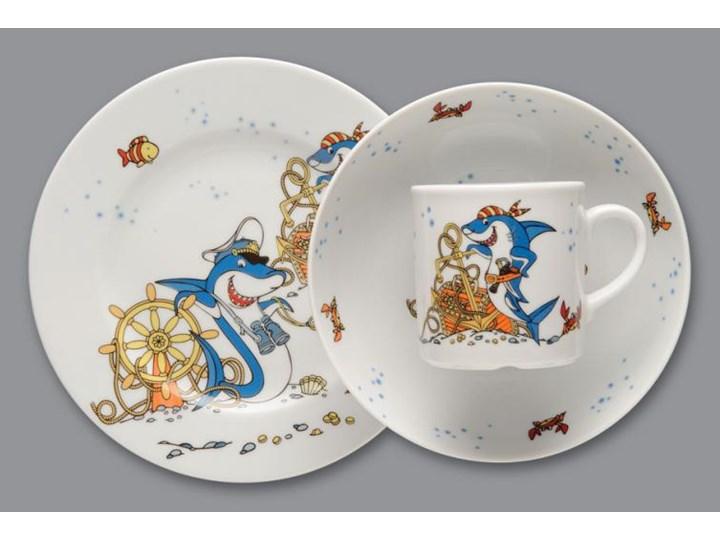 Wyprzedaz Zestaw Obiadowy Dla Dzieci Lubiana Rekiny Porcelana 3