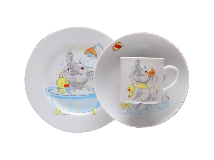 Wyprzedaz Zestaw Obiadowy Dla Dzieci Lubiana Slonik Porcelana 3