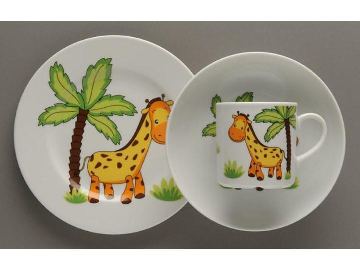 Zestaw Obiadowy Dla Dzieci Lubiana żyrafa Porcelana 3 Elementy