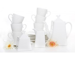 Serwis kawowy AMBITION KUBIKO na 6 osób (17 el.) -- biały