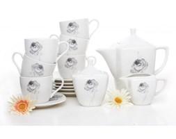 Serwis kawowy ASTURIA na 6 osób (17 el.) -- biały