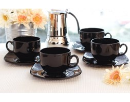 Serwis kawowy QUADRATO NOIR na 6 osób (12 el.)