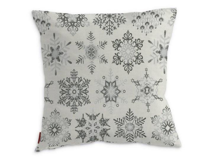 Dekoria Poszewka Kinga Na Poduszkę Srebrne śnieżynki Na Jasnym Tle 43 X 43 Cm Christmas
