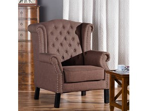 Dekoria Fotel Winchester Brown, 87x78x110cm