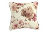Dekoria Poszewka Gabi na poduszkę, bordowo-beżowe róze na kremowym tle, 60 x 60 cm, Mirella