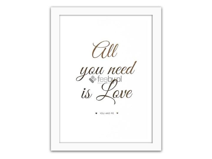 All You Need Is Love 3 Złote Napisy Plakaty W Ramie