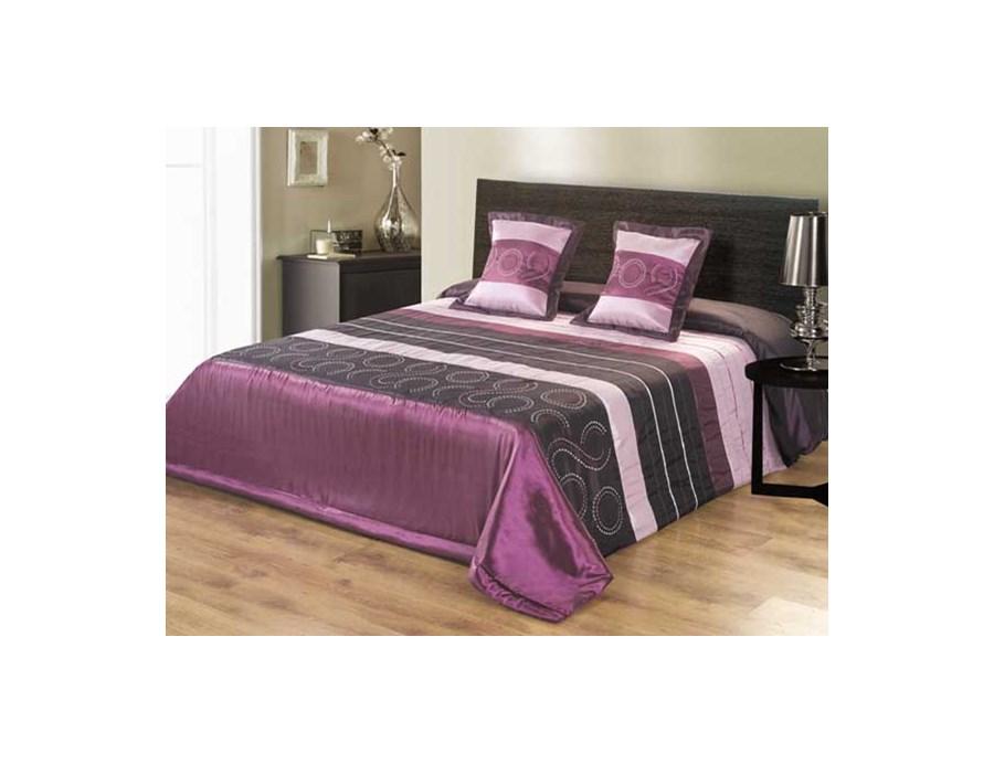 Narzuta Fioletowo Czarna Na łóżko Elana 200x220 Cm