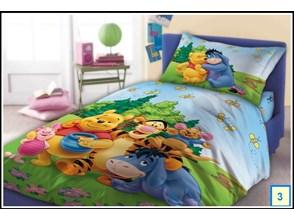Dziecięca narzuta bajkowa na łóżko Kubuś Puchatek 160x200 bawełna