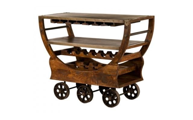 Wybitny Meble Industrialne – drewniany regał na wino – barek(RD-082A EY12