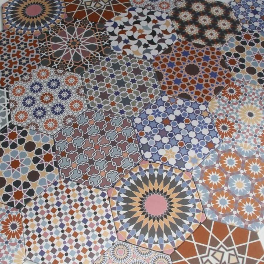 Patchworkowe orientalne p ytki sze ciok tne chakib 1 m2 for Bodenfliesen mosaik