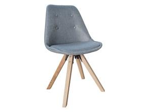 Krzesło Astoria New II szare (oparcie z guzikami)