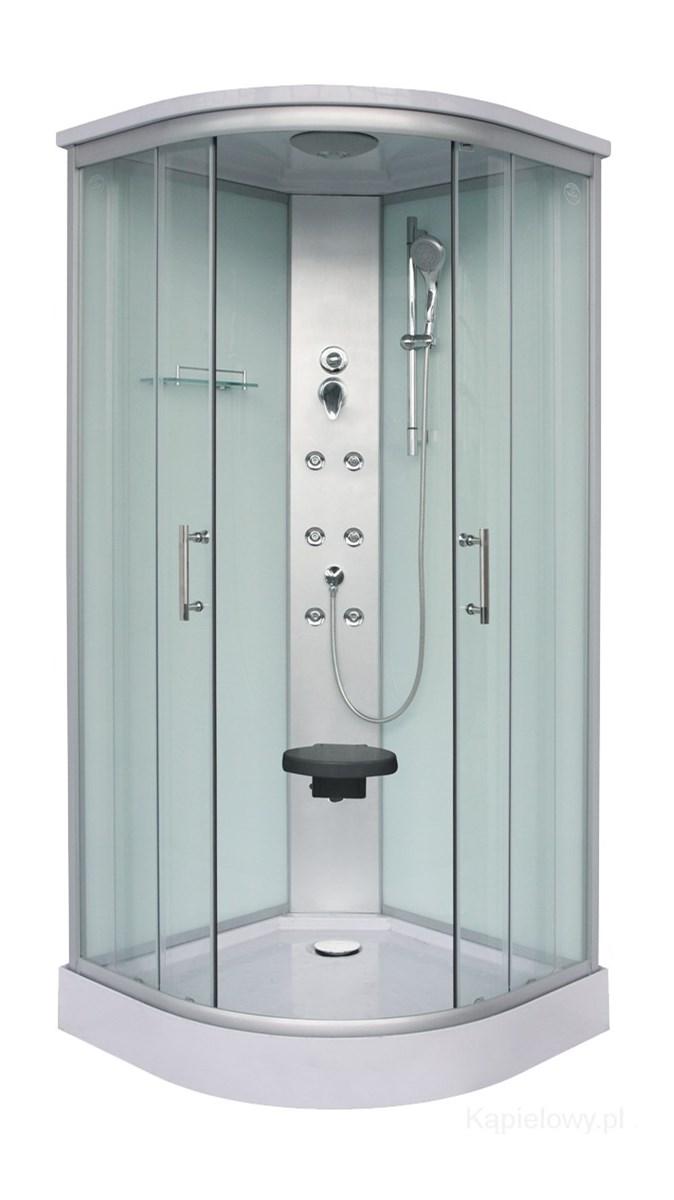 kabina prysznicowa p243�okr�g�a z hydromasażem 90x90x215cm