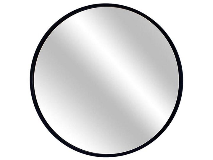 Lustro Scandi – okrągłe w czarnej ramie Lustro z ramą Ścienne Pomieszczenie Sypialnia