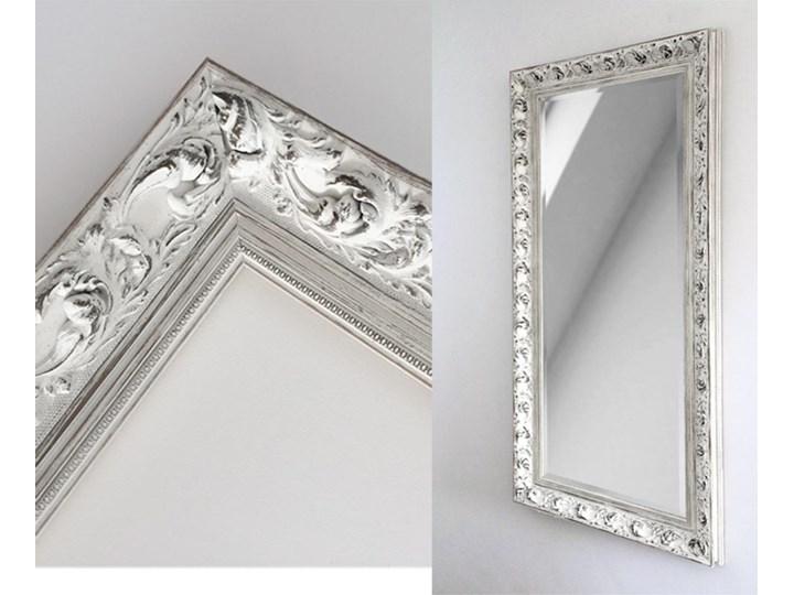Lustro Prowansja – w białej postarzanej ramie Kolor Biały Prostokątne Ścienne Lustro z ramą Kolor Srebrny
