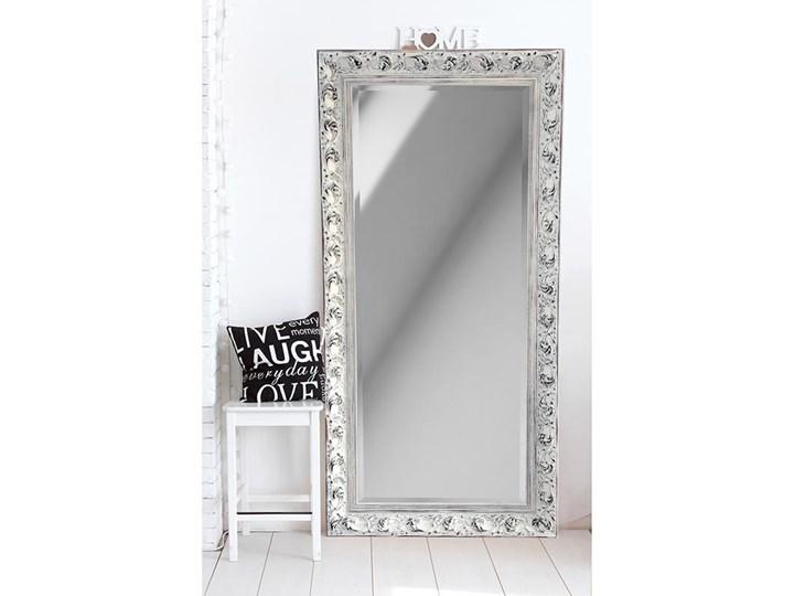 Lustro Prowansja – w białej postarzanej ramie Ścienne Prostokątne Pomieszczenie Salon Lustro z ramą Pomieszczenie Garderoba