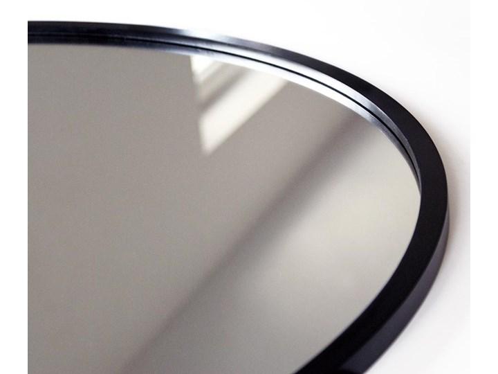 Lustro Scandi – okrągłe w czarnej ramie Styl Nowoczesny Lustro z ramą Ścienne Styl Industrialny