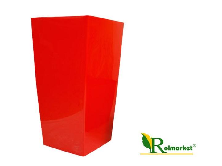 Kwadratowa Doniczka Durs 400 Z Wkładem Wewnętrznym Kolor Koral Wysokość 75 Cm