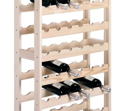 Bardzo dobra Drewniany stojak na wino - aż 54 butelki, ZELLER - Stojaki na KD27
