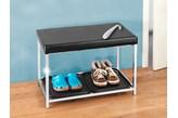 Siedzisko do przedpokoju, 2x taca do przechowywania butów + łyżka, WENKO