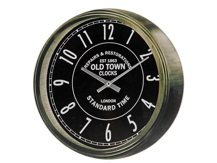 Zegar ścienny OLD TOWN, okrągły, Ø 30 cm Szkło Tworzywo sztuczne Styl klasyczny