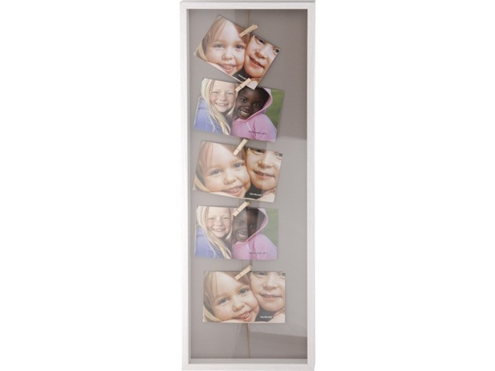 Drewniana ramka do zdjęć, minigaleria na 5 zdjęć Metal Drewno Multiramka