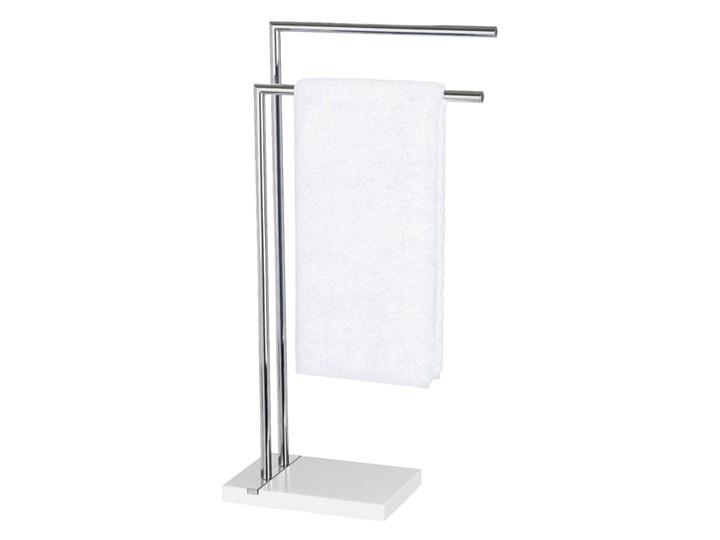 Stojak na ręczniki NOBLE WHITE - 2 ramienny, chromowany, WENKO Wieszaki na ręczniki Stal Wolnostojący Podwójny Styl klasyczny