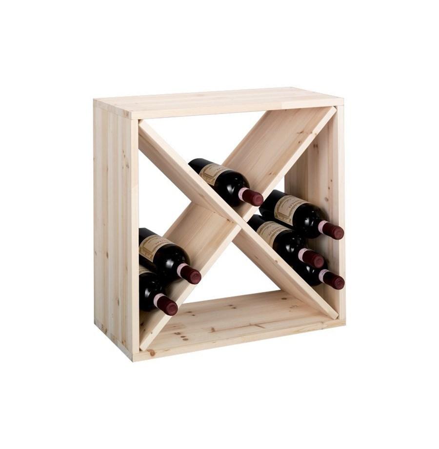 Wspaniały Drewniany stojak na wino, 24 butelek, ZELLER - Stojaki na butelki KD97
